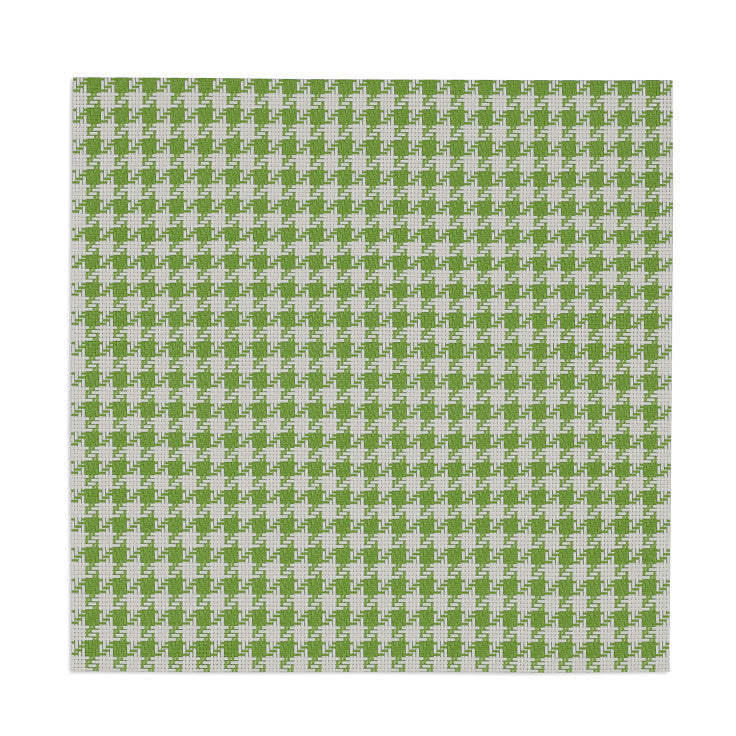 Lime Zest and White Houndstooth Placemat - DII Design Imports