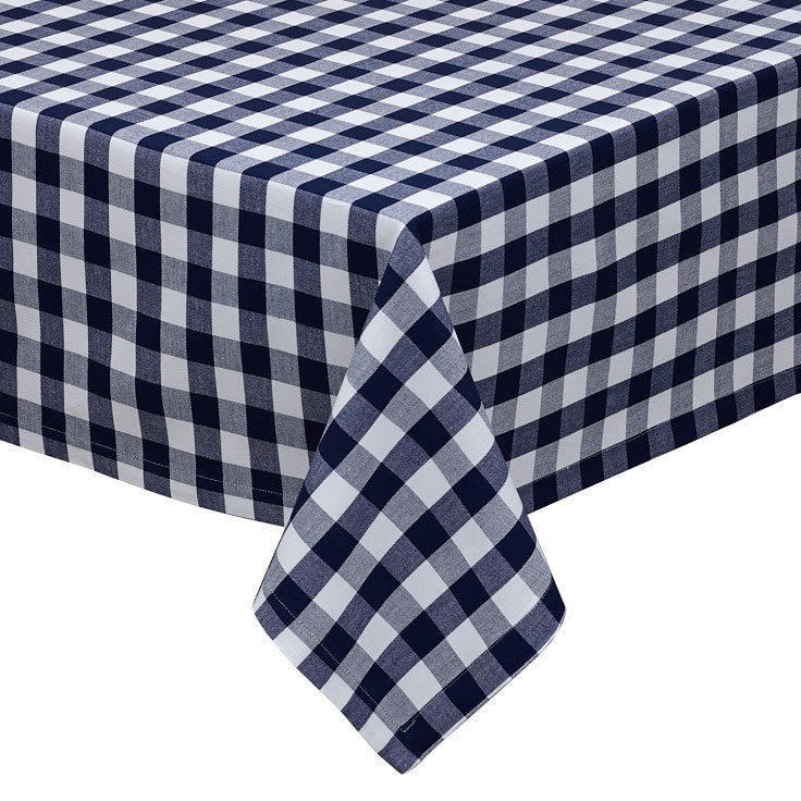 Nautical & White Checkers Tablecloth - DII Design Imports