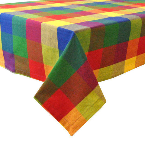Wholesale - Palette Check Indian Summer Tablecloth - DII Design Imports