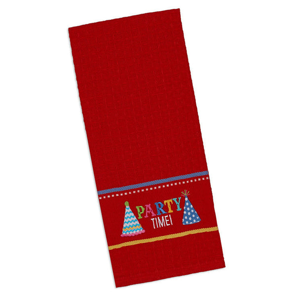 Wholesale - Party Time! Embroidered Dishtowel - DII Design Imports - 1