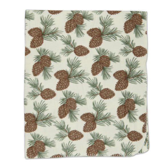 Pinecone Fleece Throw - DII Design Imports