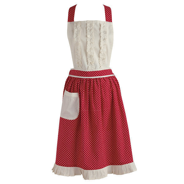 Wholesale Red Polka Dot Vintage Apron - DII Design Imports