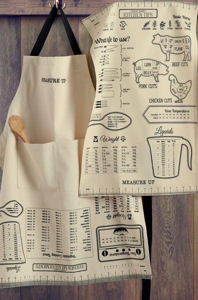 Wholesale - Measure Up Printed Chefs Apron - DII Design Imports - 2
