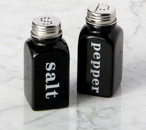 Wholesale - Black Ceramic Salt & Pepper Shakers - DII Design Imports - 2
