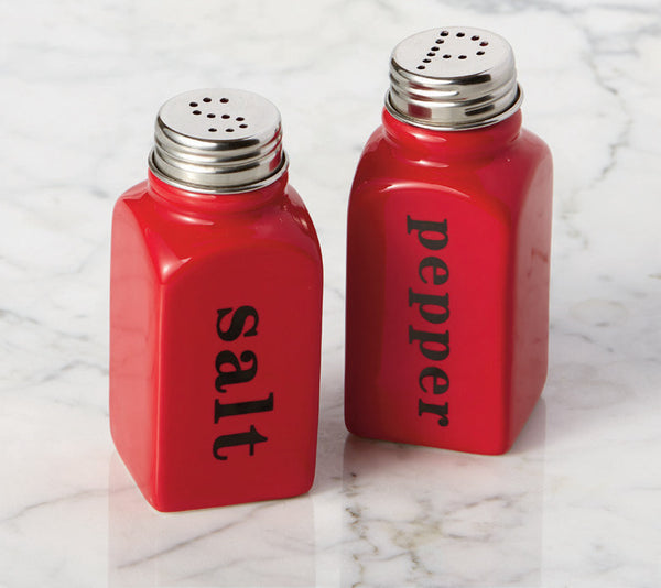 Wholesale - Red Ceramic Salt & Pepper Shakers - DII Design Imports - 2