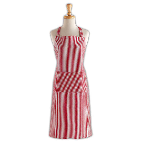 Tango Red Chef Stripe Chef's Apron - DII Design Imports
