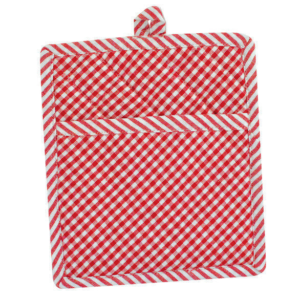 Tango Red Chef Stripe Potholder - DII Design Imports