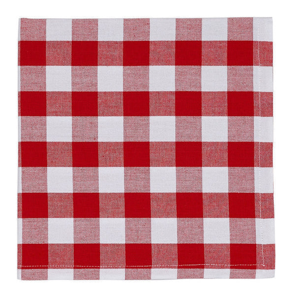 Tango & White Checkers Napkin - DII Design Imports