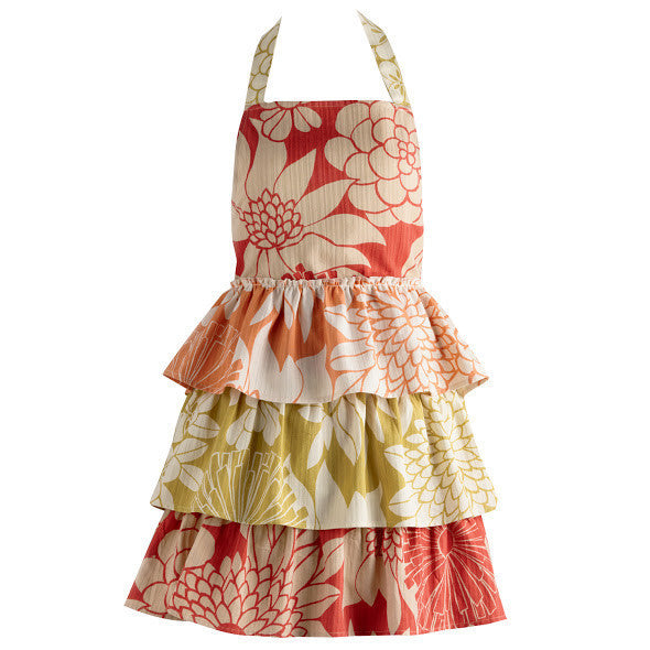 Wholesale Tropical Trio Ruffles Vintage Apron - DII Design Imports