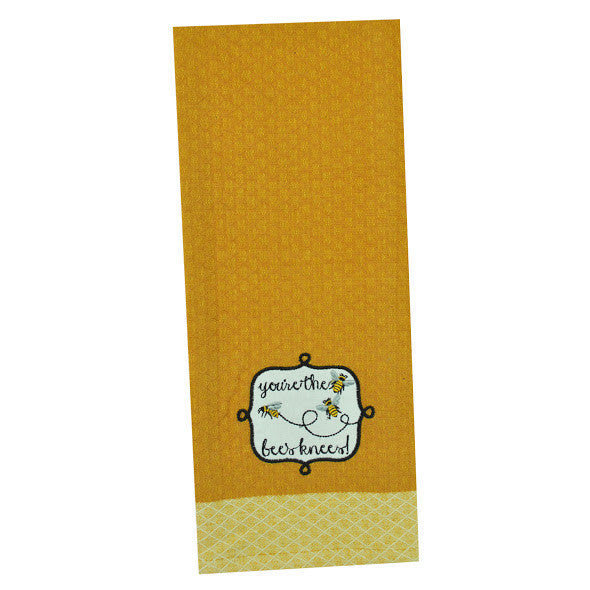 """You're the Bee's Knees"" Embellished Dishtowel - DII Design Imports"