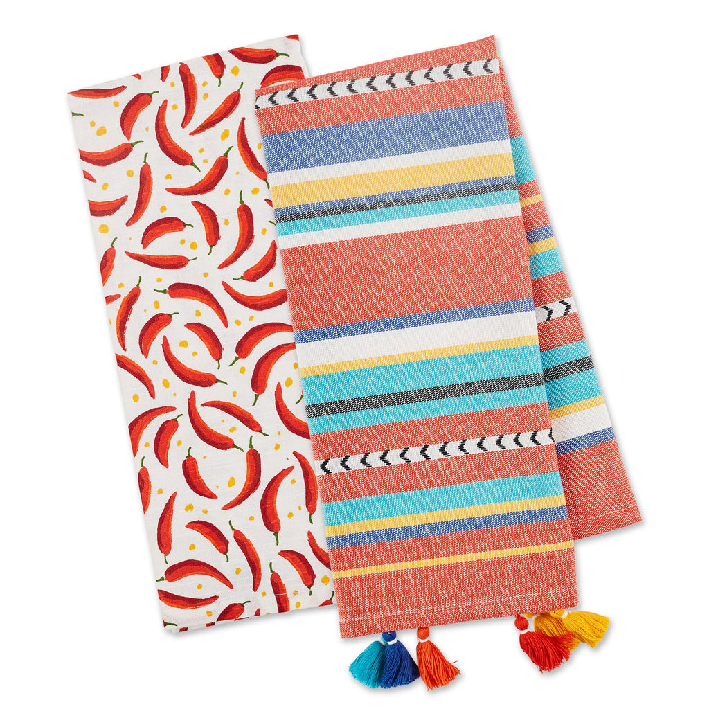 VERANO CHILIS DISHTOWEL SET OF 2