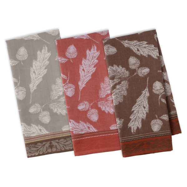 Acorn Autumn Jacquard Dishtowels