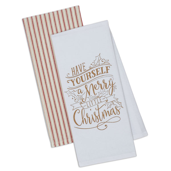 Merry Little Christmas Dishtowel Set of 2
