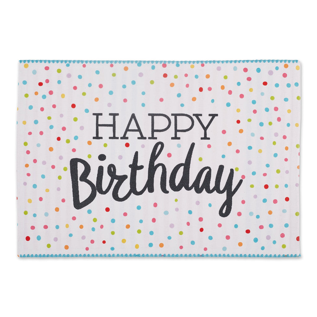 HAPPY BIRTHDAY EMBELLISHED PLACEMAT