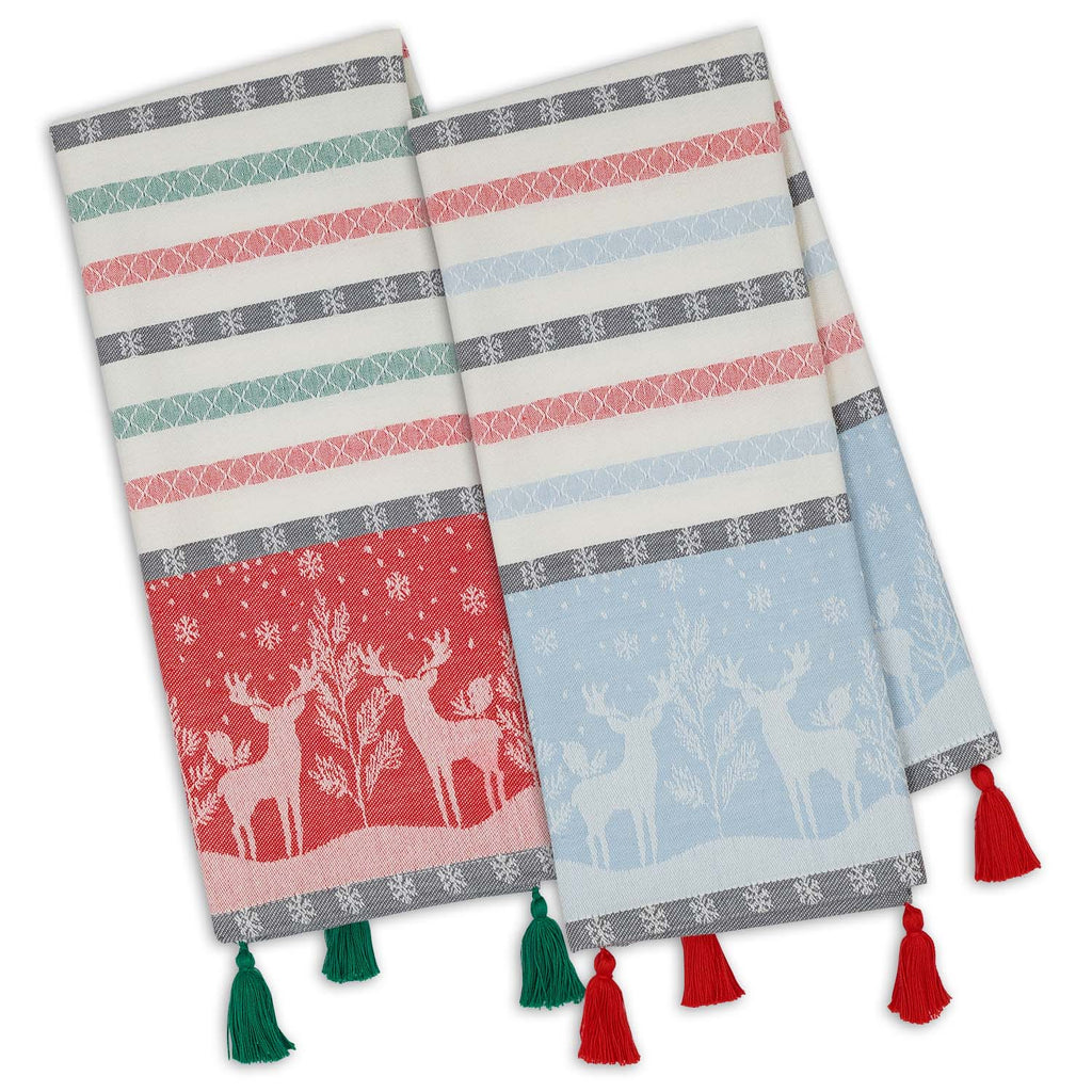 Reindeer Forest Jacquard Dishtowels