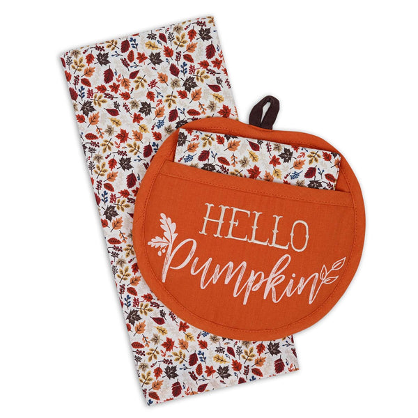 Hello Pumpkin Potholder Gift Set