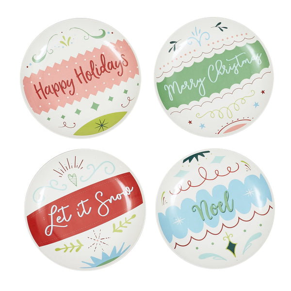 Ornaments Appetizer Plate Set of 4