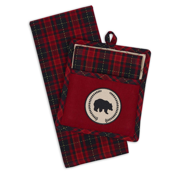 Bear Woods Potholder Gift Set - DII Design Imports