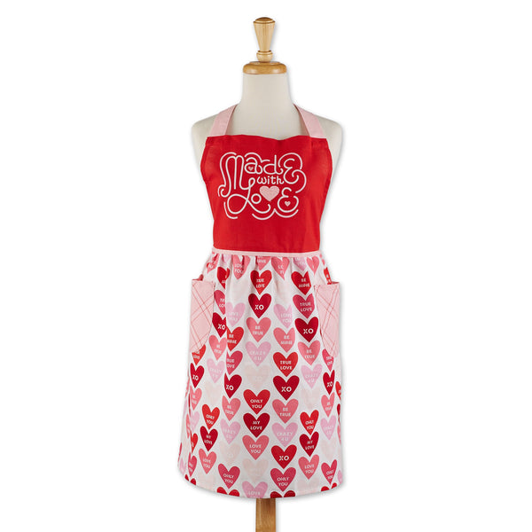 Retro Made Love Printed Apron