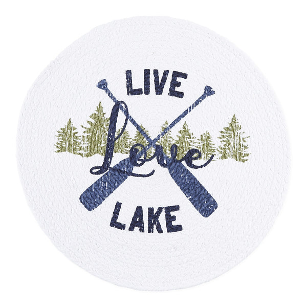 Lake Life Print Braided Placemat