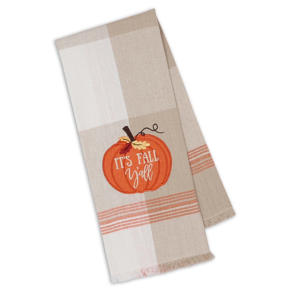 It's Fall Y'all Embellished Dishtowel