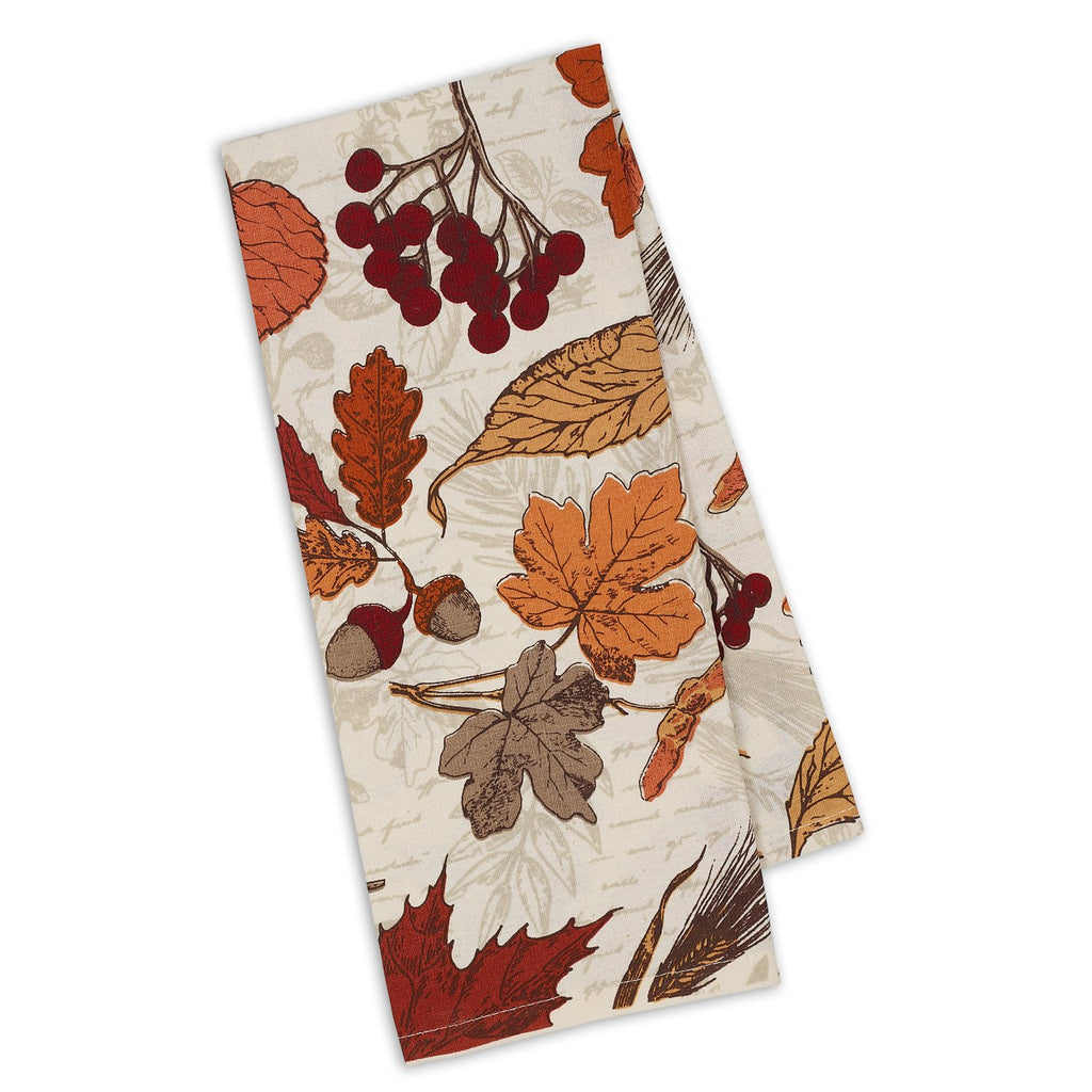 Autumn Botanical Printed Dishtowel