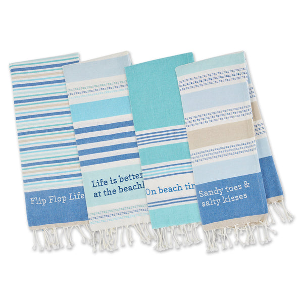 BEACH HOUSE VIBES EMBELLISHED DISHTOWELS MIXED DOZEN