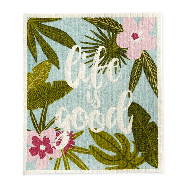 Life Is Good Swedish Dishcloth - DII Design Imports
