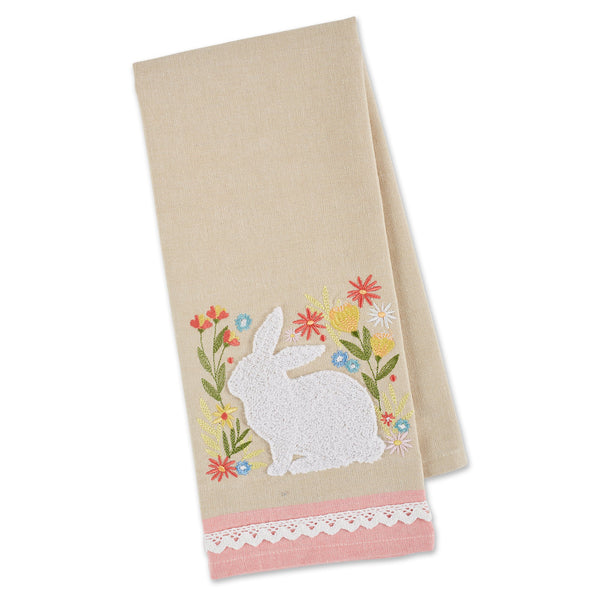 SPRING MEADOW EMBELLISHED DISHTOWEL