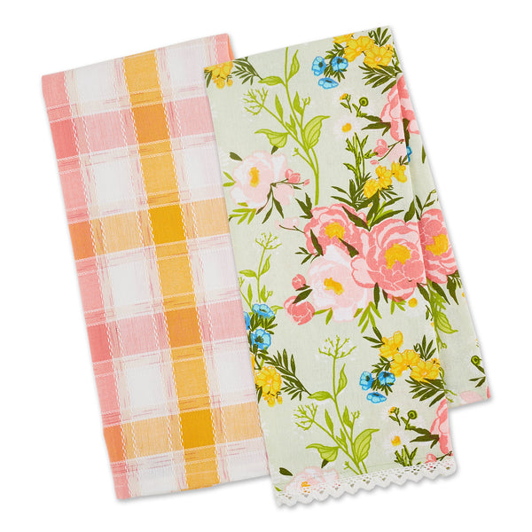 SPRING BOUQUET DISHTOWEL SET OF 2
