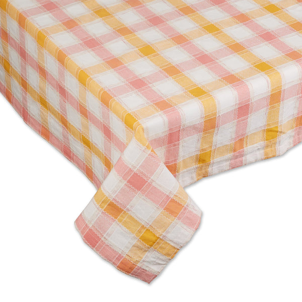 SUNRISE PLAID TABLECLOTH - 60 X 84""