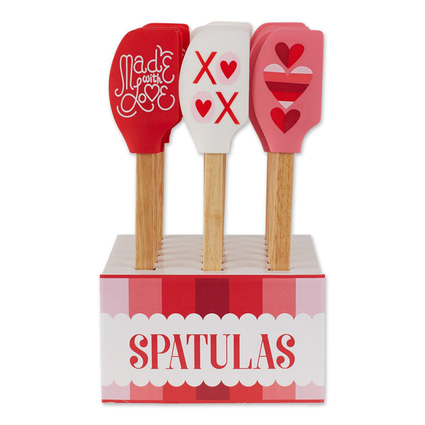 Valentine Baking Assorted Silicone Spatula 18 PK PDQ