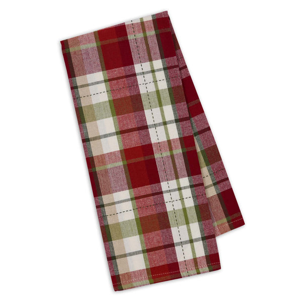 Mountain Trail Plaid Dishtowel