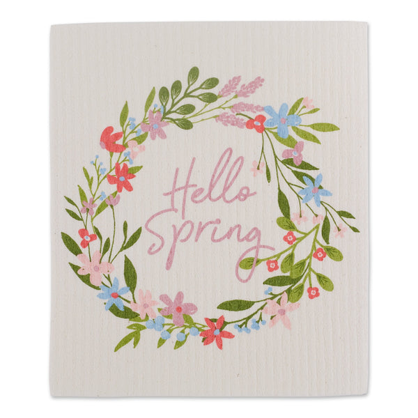 HELLO SPRING SWEDISH DISHCLOTH
