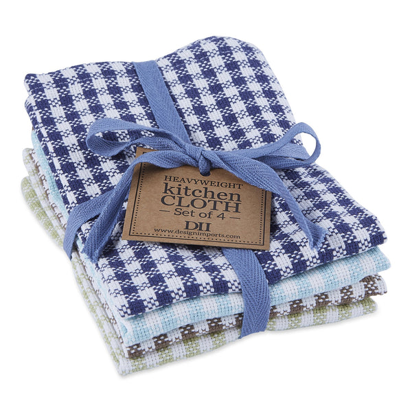 Lake Checks Heavyweight Dishcloth Set of 4 - DII Design Imports