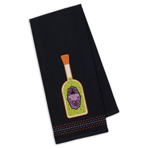 Witch's Brew Embellished Dishtowel