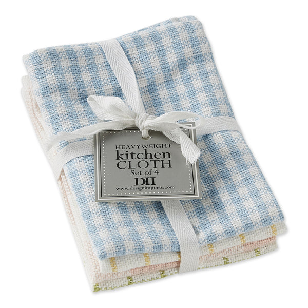 Garden Plaids Dishcloth Set of 4 - DII Design Imports