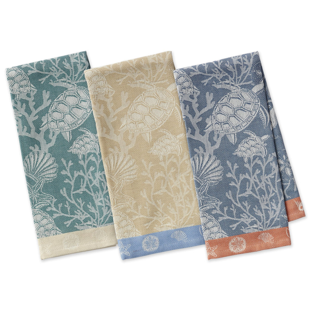 Coral Reef Jacquard Dishtowels - DII Design Imports