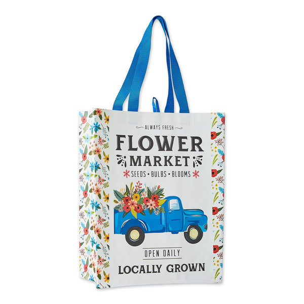 FLOWER TRUCK REUSABLE TOTE