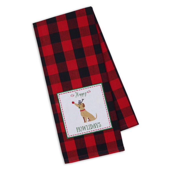 Happy Howlidays Embellished Dishtowel