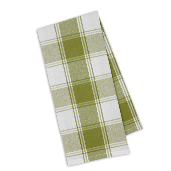 Parsley Green Picnic Plaid Dishtowel