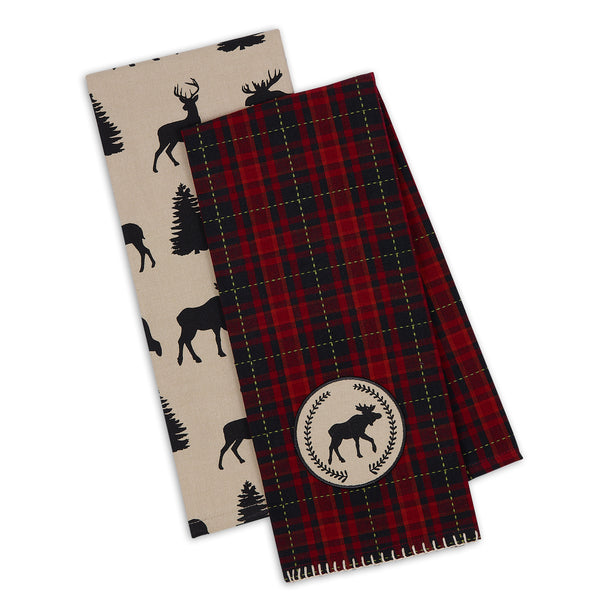 Moose Woods Dishtowel Set of 2