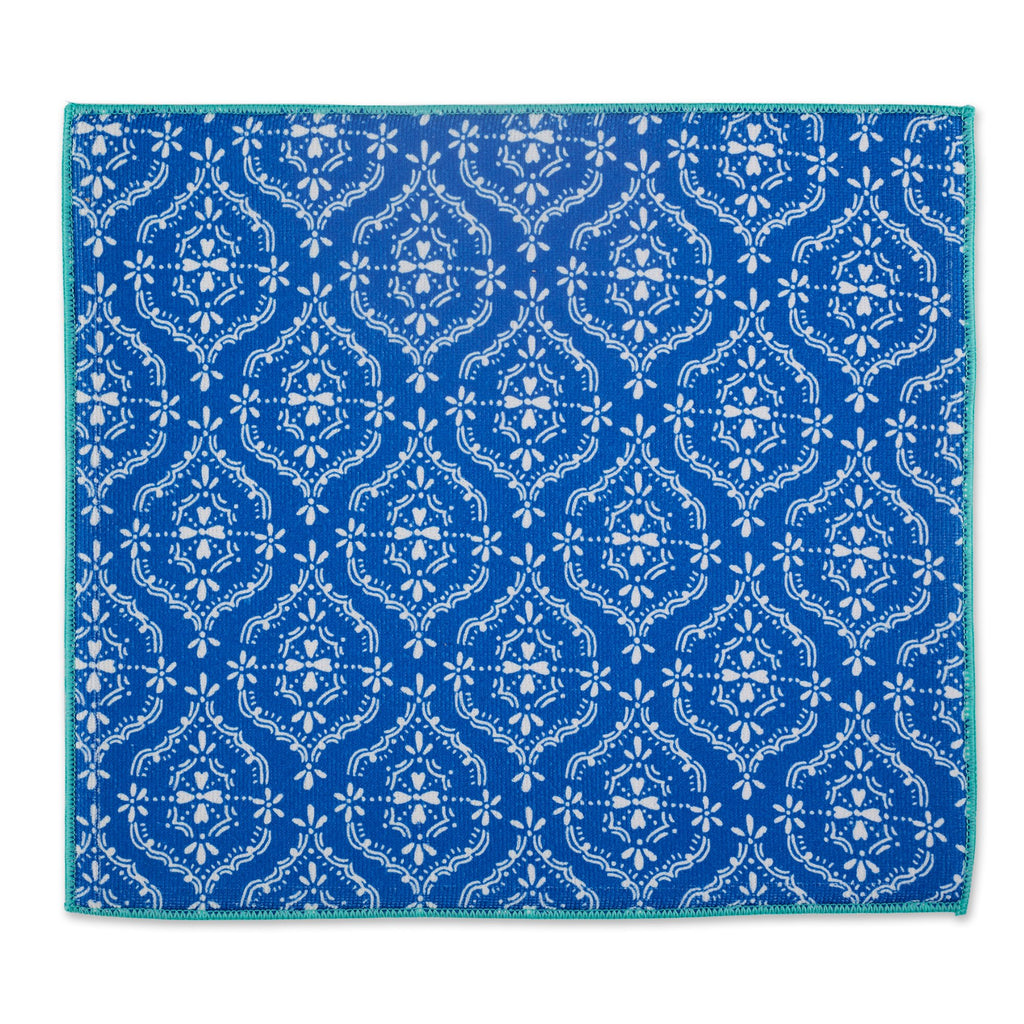 BLUE LACE DISH DRYING MAT