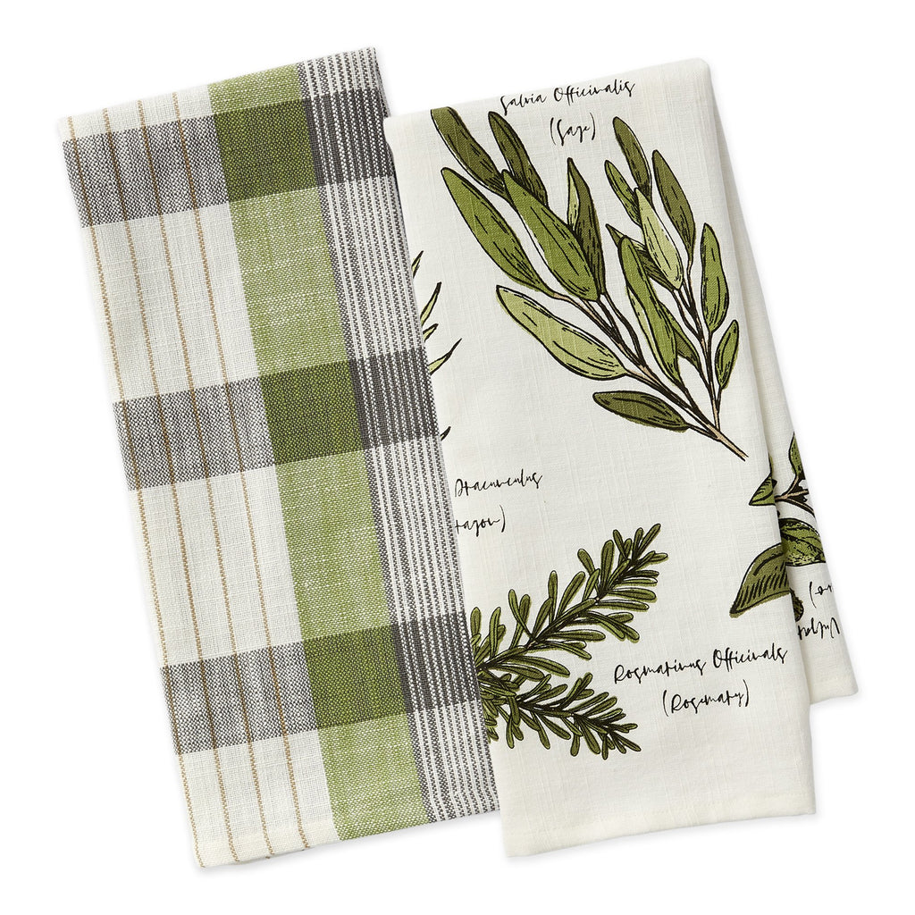 Culinary Herb Guide Dishtowel Set of 2 - DII Design Imports