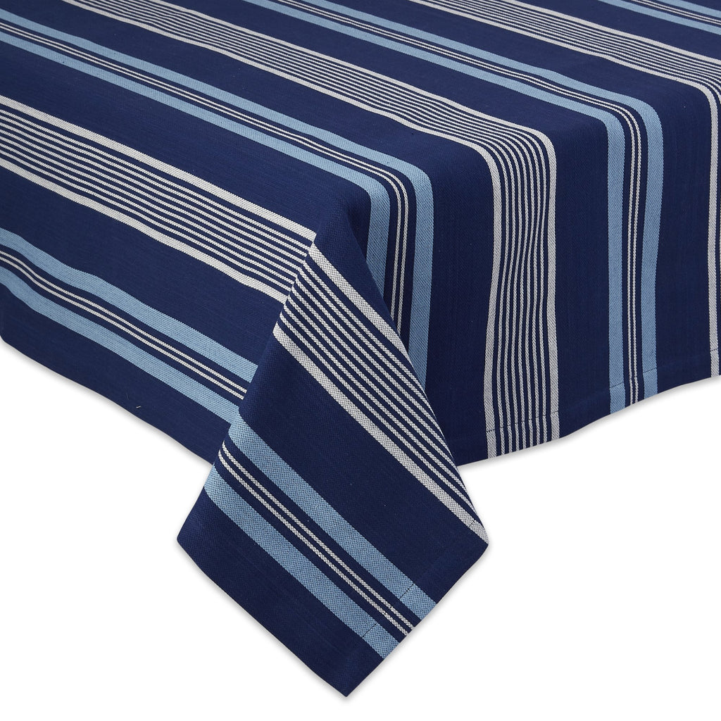 MARITIME STRIPE TABLECLOTH - 52 X 52""