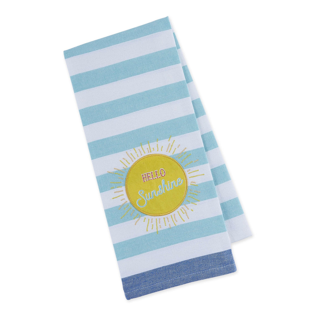 Hello Sunshine Embellished Dishtowel - DII Design Imports