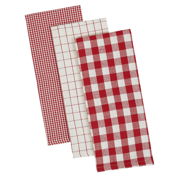 Holiday Checks Heavyweight Dishtowel Set of 3