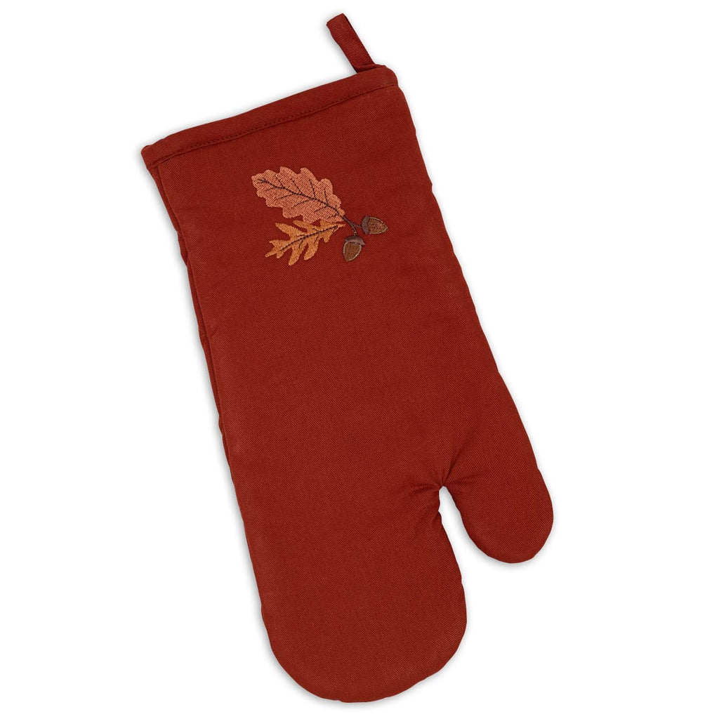 Acorn Oak Embroidered Oven Mitt