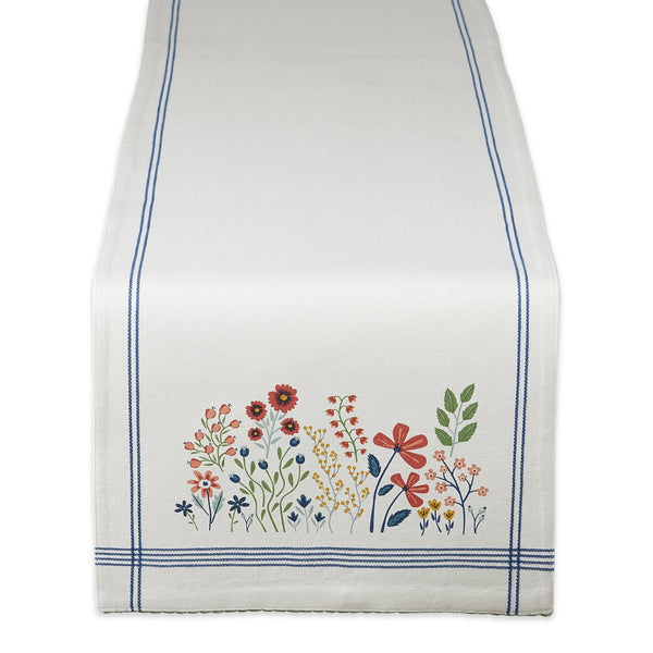 Flower Garden Embellished Table Runner - DII Design Imports