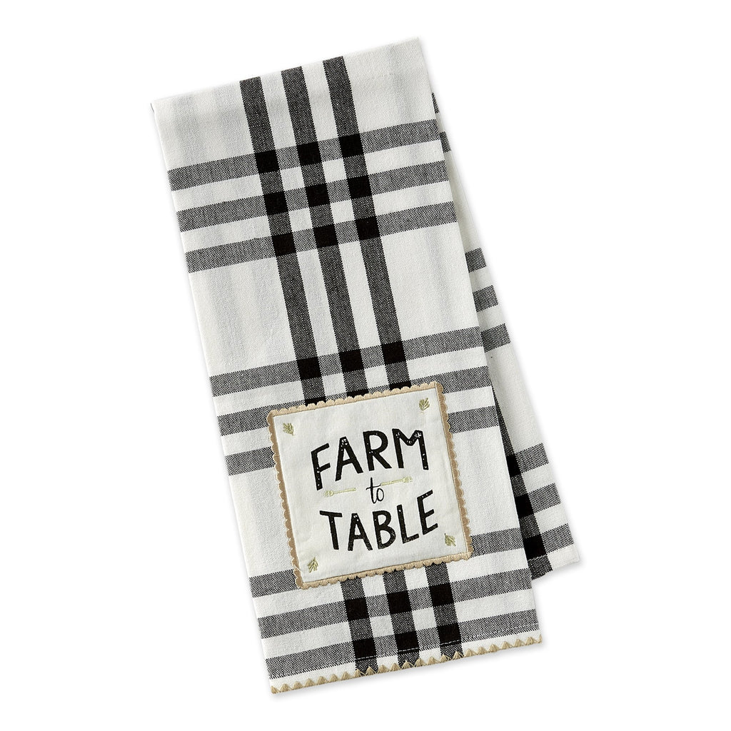 Farm To Table Embellished Dishtowel - DII Design Imports